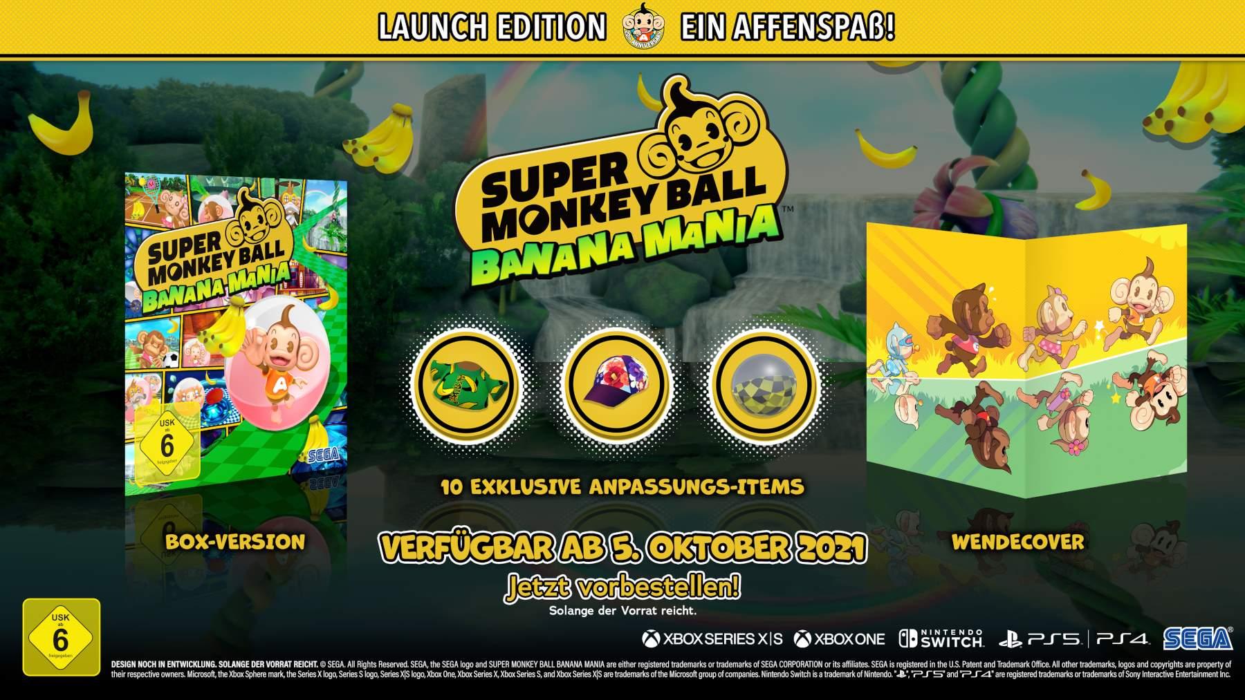 Super Monkey Ball Banana Mania Launch Edition