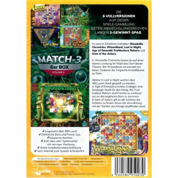 Match-3 6er Box Volume 01, PC