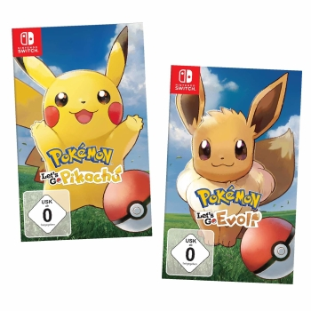 Pokemon Let´s Go, Pikachu + Evoli!, Doppelpack / LösungsbuchNintendo Switch
