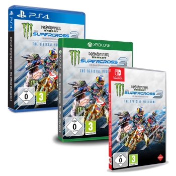 Monster Energy Supercross 3 - The Official Videogame, PS4/Xbox One/Switch