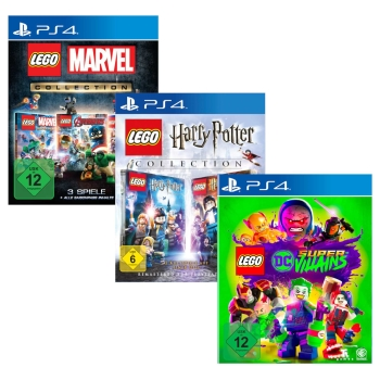 Lego Marvel + Harry Potter Collection + DC Super Villains, Sony PS4