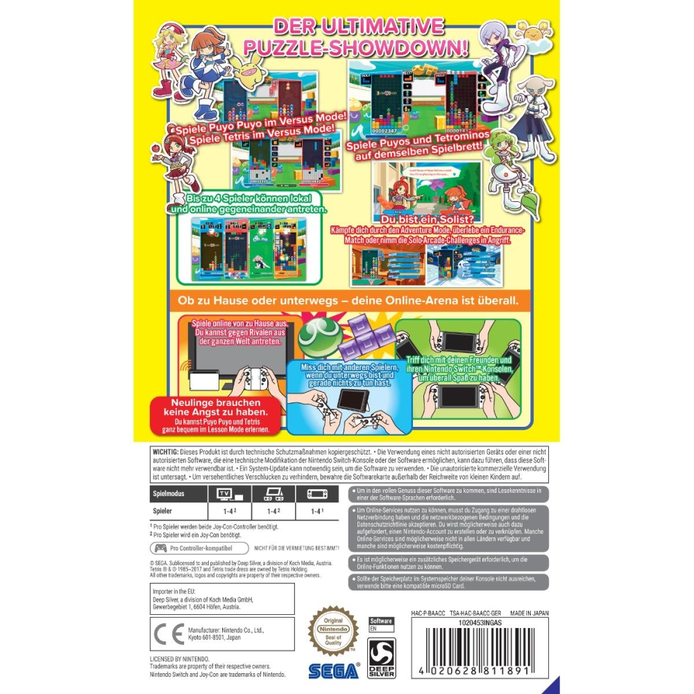 puyo puyo tetris nintendo switch games guides 26 56. Black Bedroom Furniture Sets. Home Design Ideas