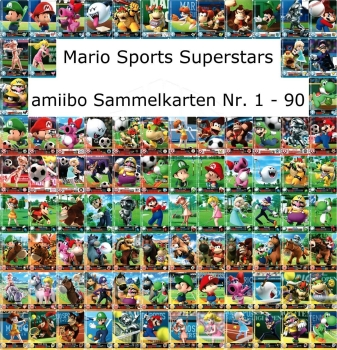 amiibo Mario Sports Superstars Einzelkarten 01-90