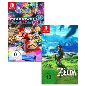 Mario Kart 8 Deluxe + Zelda Breath of the Wild, Nintendo Switch